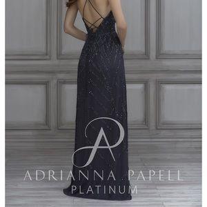 Adrianna Pappell Platinum Bridesmaid dress, #40117